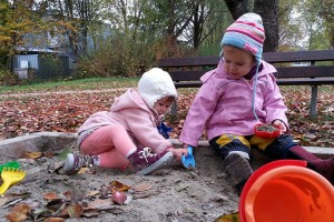 Kinderbetreuung-Sandkasten