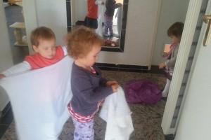 Kindertagesbetreuung-Spiel