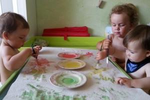 Tagespflege-Fingerfarben